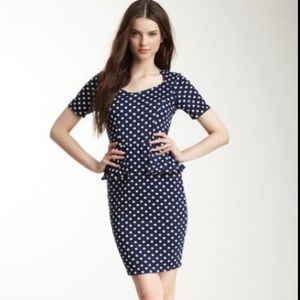 💙FREEWAY💙POLKA DOT PEPLUM DRESS💙